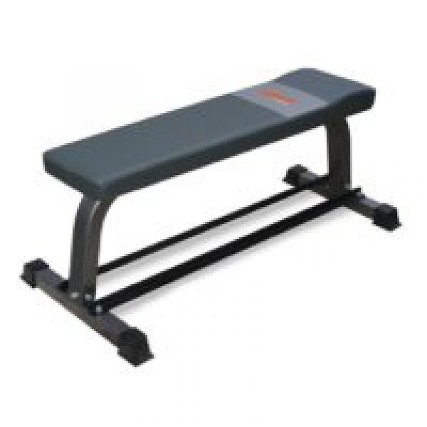 Flat Bench with Dumbbell Rack