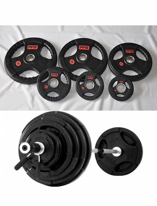 Olympic 300lb Tri-Grip Deluxe Rubber Plate Set