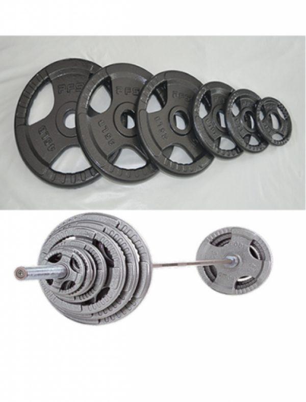 Olympic 300lb Tri-Grip Steel Plate Set