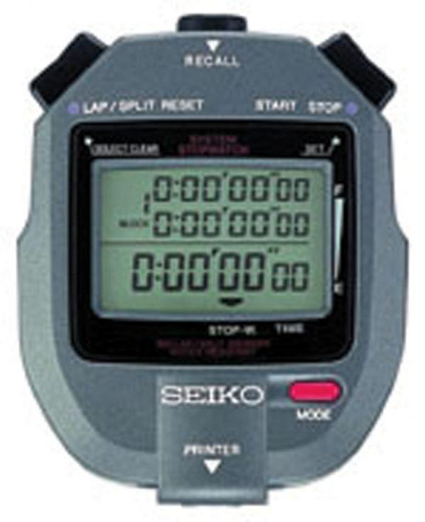 SEIKO 300 Lap Memory Stopwatch with Printer Port S143