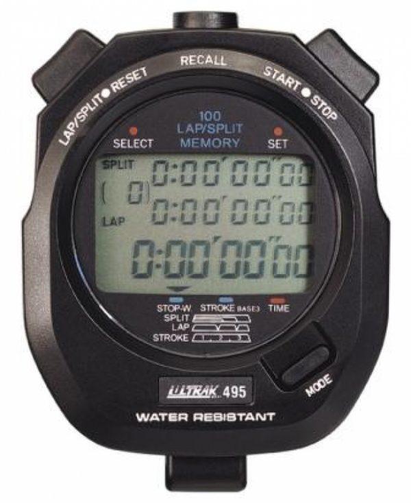 ULTRAK 495 Stopwatch - 100 Lap Memory